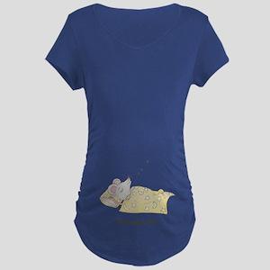 Sleeping Mouse Maternity Dark T-Shirt