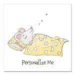 Sleeping Mouse Square Car Magnet 3