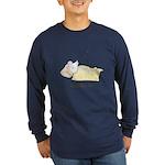 Sleeping Mouse Long Sleeve Dark T-Shirt