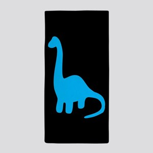 Blue Apatosaurus Beach Towel