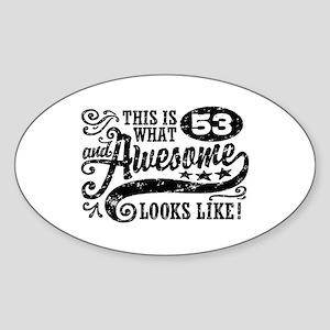 53rd Birthday Sticker (Oval)