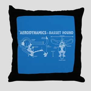 The Aerodynamics of a Basset Hound Throw Pillow