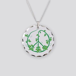 Green Peace Necklace Circle Charm