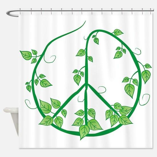 Green Peace Shower Curtain