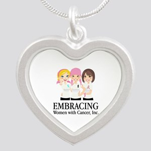 Embracing Silver Heart Necklace