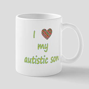 I love my autistic son (2) Mug