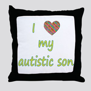 I love my autistic son (2) Throw Pillow