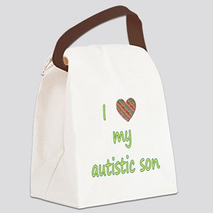 I love my autistic son (2) Canvas Lunch Bag