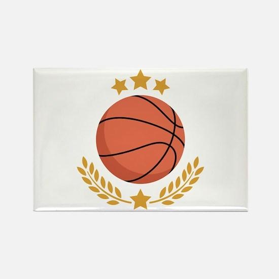 Basketball Laurel Magnets
