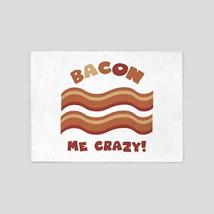 Bacon me crazy! 5'x7'Area Rug