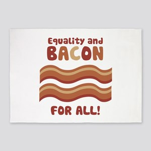 Equality and Bacon for all 5'x7'Area Rug