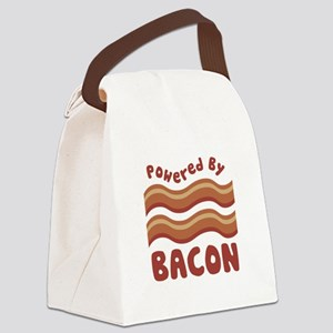 Powered by Bacon Canvas Lunch Bag
