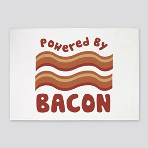 Powered by Bacon 5'x7'Area Rug