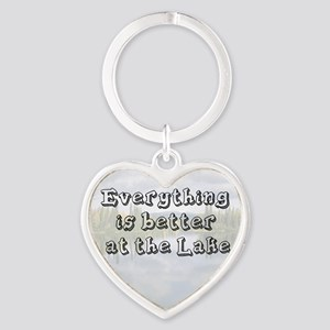 better at the lake Heart Keychain