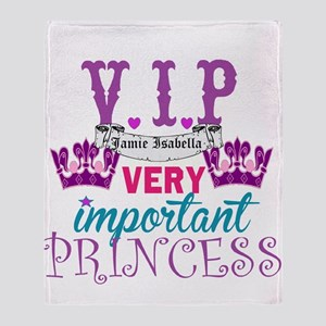 Vip Princess Personalize Throw Blanket