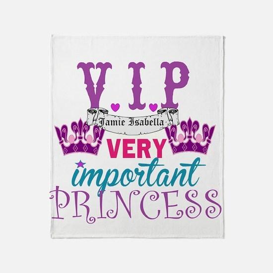 Vip Princess Personalize Throw Blanket