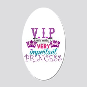 Vip Princess Personalize 20x12 Oval Wall Decal