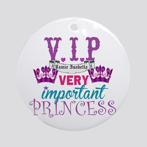 VIP Princess Personalize Ornament (Round)