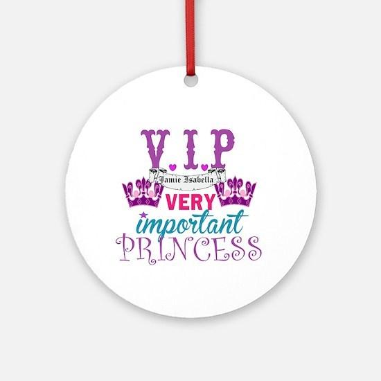VIP Princess Personalize Ornament (Round)