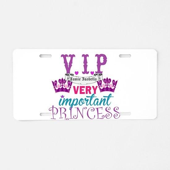 VIP Princess Personalize Aluminum License Plate