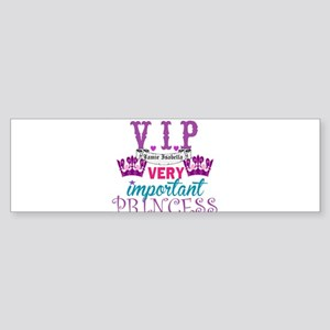 VIP Princess Personalize Bumper Sticker