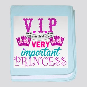 VIP Princess Personalize baby blanket
