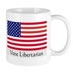 """Vote Libertarian"" US Flag Mug"