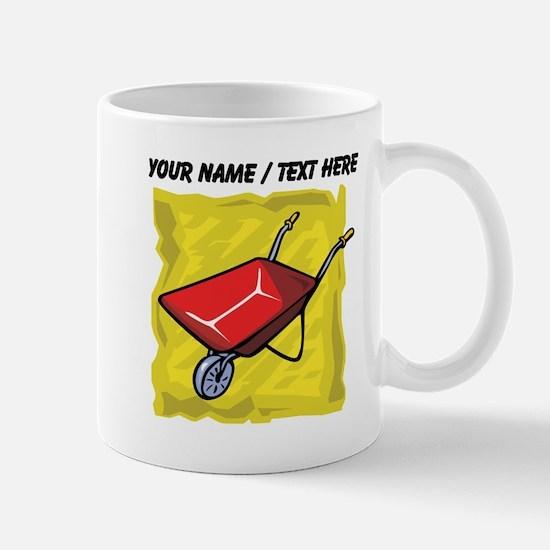 Custom Red Wheelbarrow Mugs