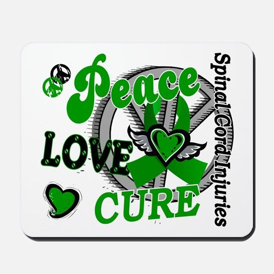 Spinal Cord Injury PeaceLoveCure2 Mousepad