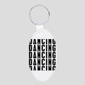 Dancung Dancing Dancing Aluminum Oval Keychain