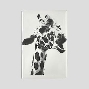 Baby Giraffe - bananaharvest Rectangle Magnet