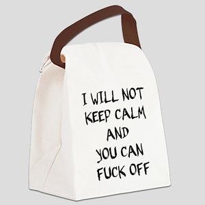 Keep calm and fuck off - bananaha Canvas Lunch Bag