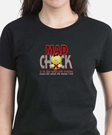 Brain Aneurysm Mad Chick 1 Women's Dark T-Shirt