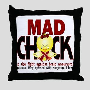 Brain Aneurysm Mad Chick 1 Throw Pillow