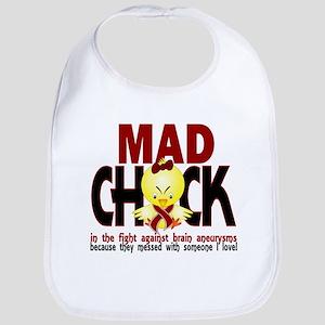 Brain Aneurysm Mad Chick 1 Bib