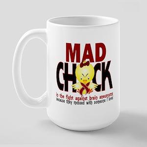 Brain Aneurysm Mad Chick 1 Large Mug
