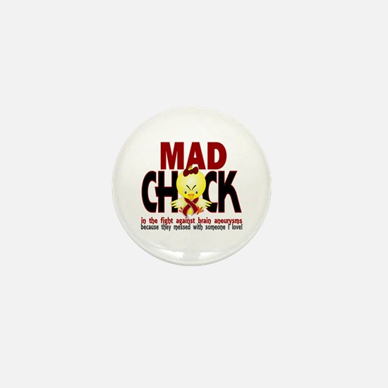 Brain Aneurysm Mad Chick 1 Mini Button