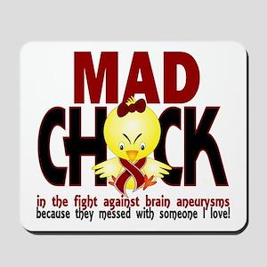Brain Aneurysm Mad Chick 1 Mousepad