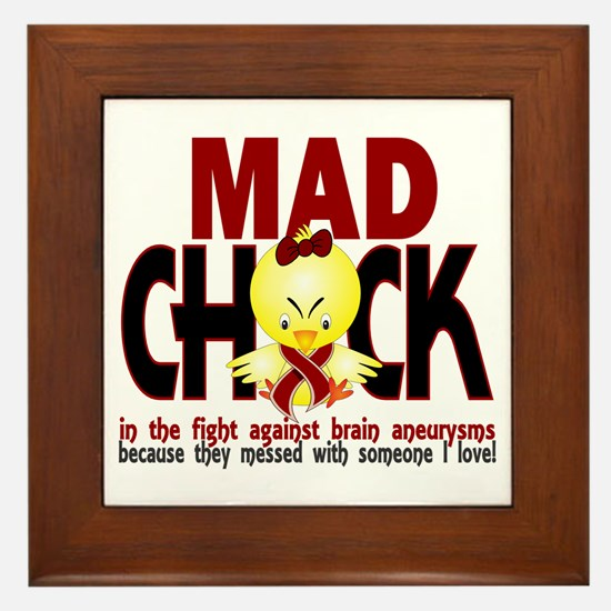 Brain Aneurysm Mad Chick 1 Framed Tile
