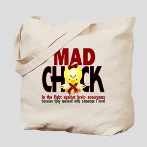 Brain Aneurysm Mad Chick 1 Tote Bag