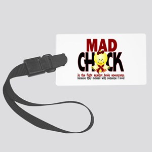 Brain Aneurysm Mad Chick 1 Large Luggage Tag