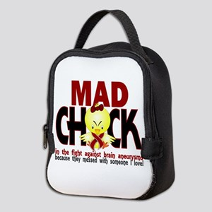 Brain Aneurysm Mad Chick 1 Neoprene Lunch Bag