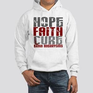 Brain Aneurysm HopeFaithCure1 Hooded Sweatshirt