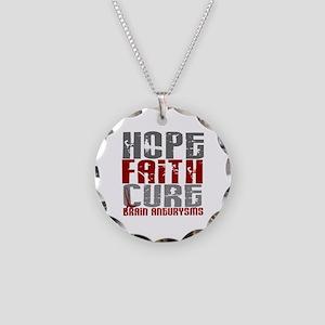 Brain Aneurysm HopeFaithCure Necklace Circle Charm