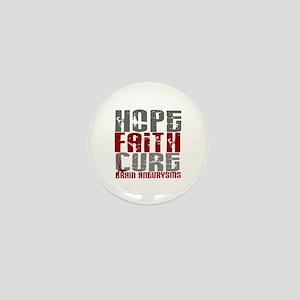 Brain Aneurysm HopeFaithCure1 Mini Button