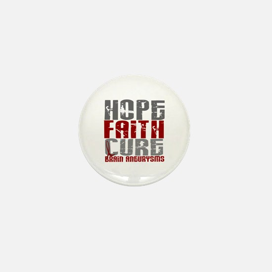 Brain Aneurysm HopeFaithCure1 Mini Button