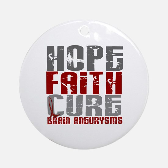Brain Aneurysm HopeFaithCure1 Ornament (Round)
