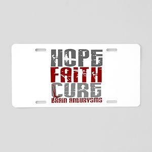 Brain Aneurysm HopeFaithCur Aluminum License Plate