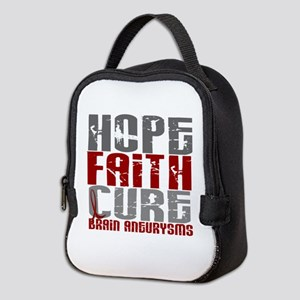 Brain Aneurysm HopeFaithCure1 Neoprene Lunch Bag