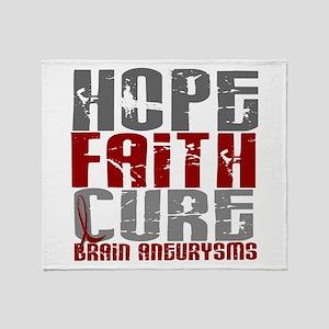 Brain Aneurysm HopeFaithCure1 Throw Blanket